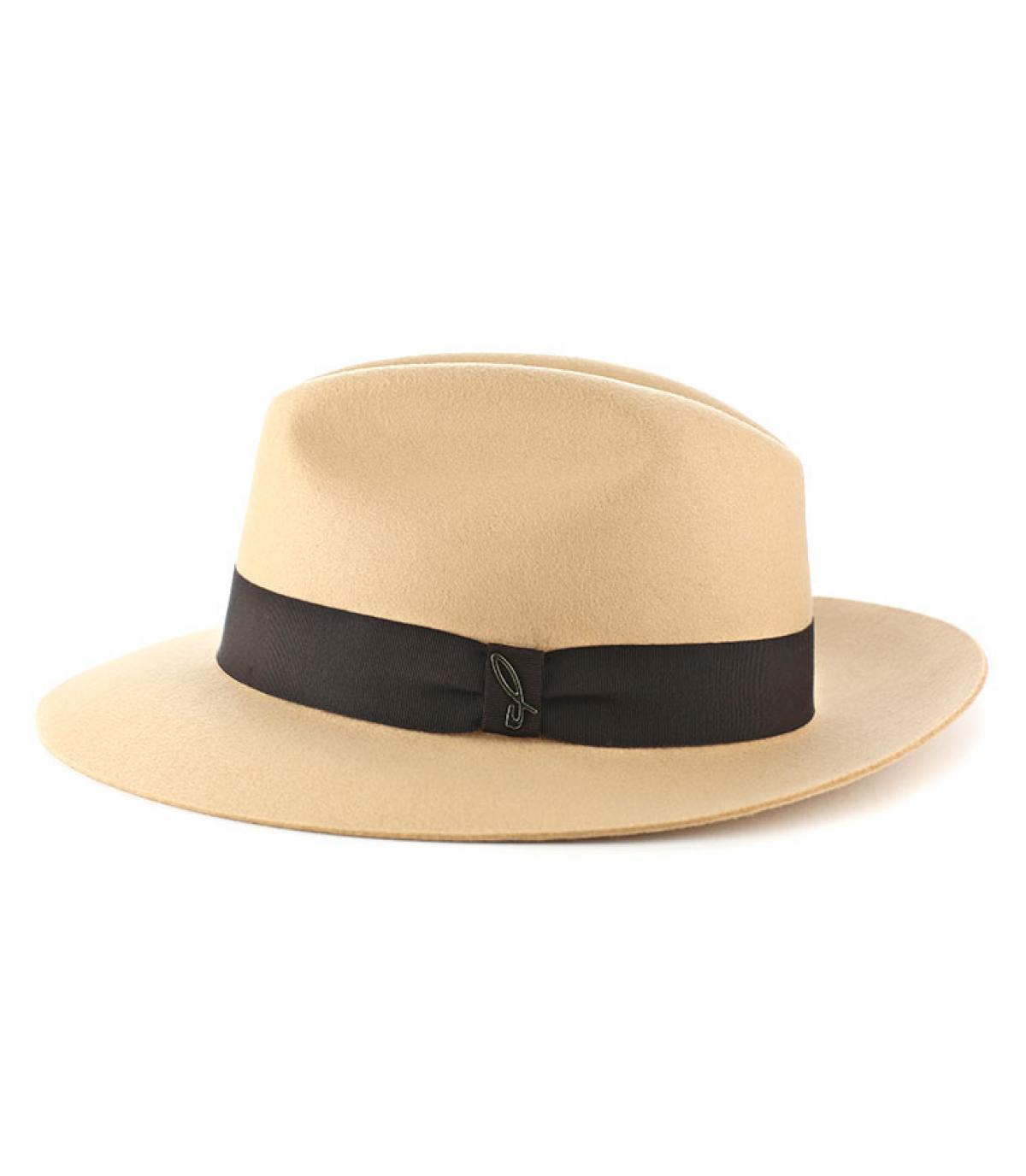 Doria beige vilten hoed