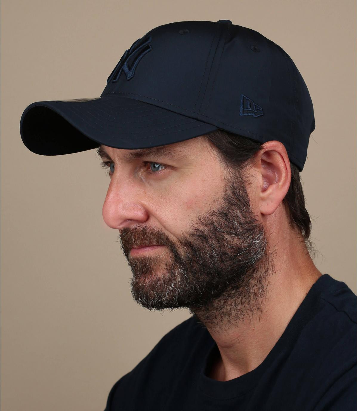 opvouwbare zwarte NY cap