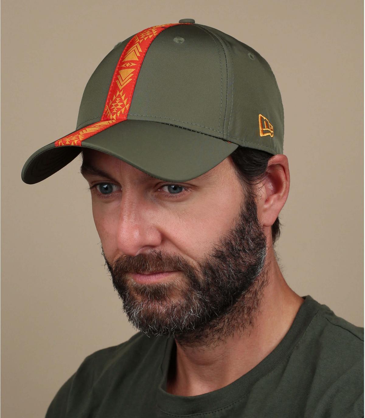 groen oranje lint cap