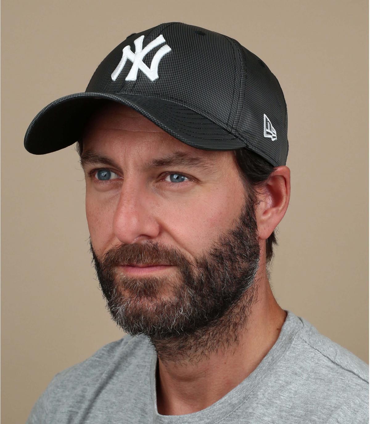 zwarte NY ripstop cap