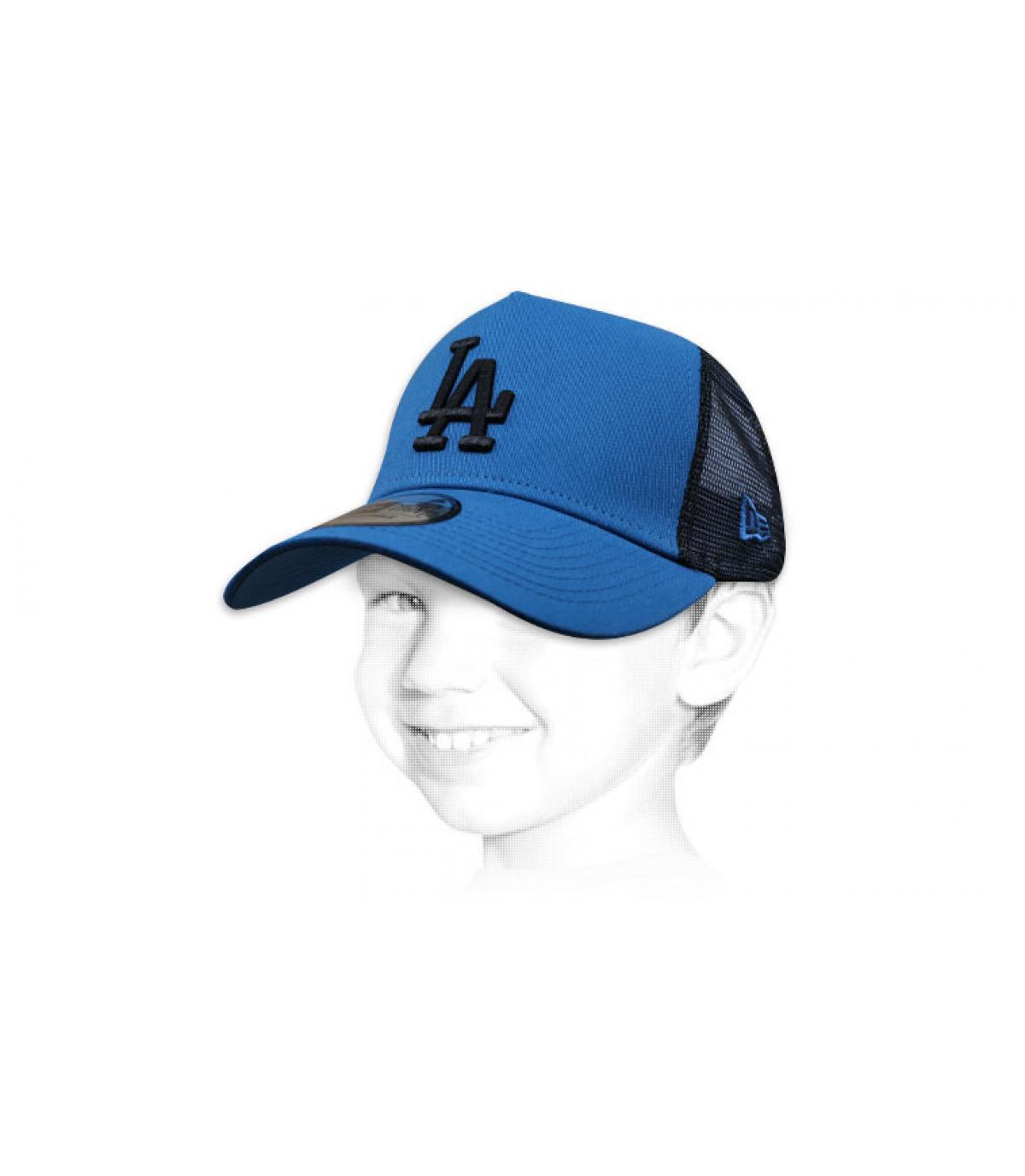 LA blauwe trucker kind