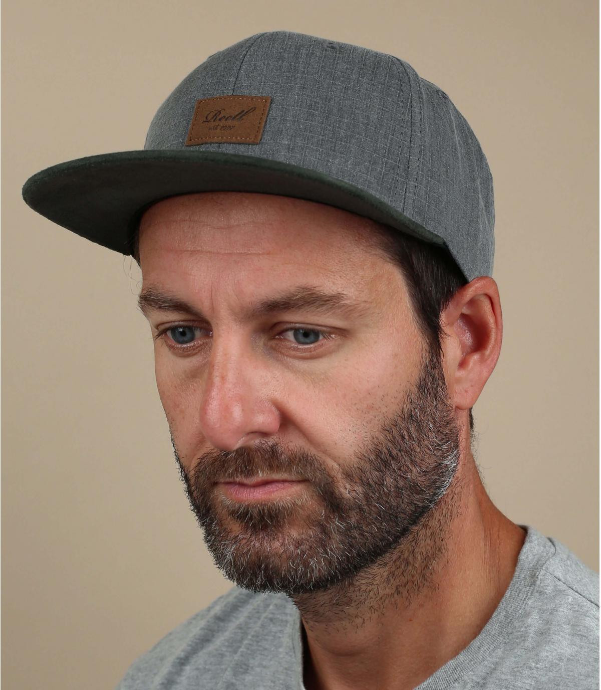 Reell cap zwart grijs