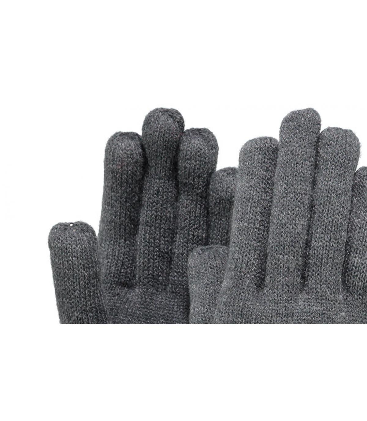 Details Fijne gebreide handschoenen donkergrijs - afbeeling 2