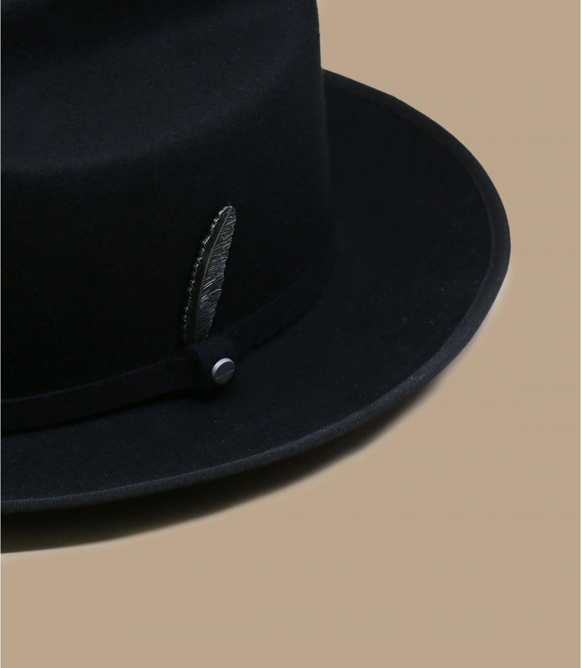 zwarte vilten hoed Stetson