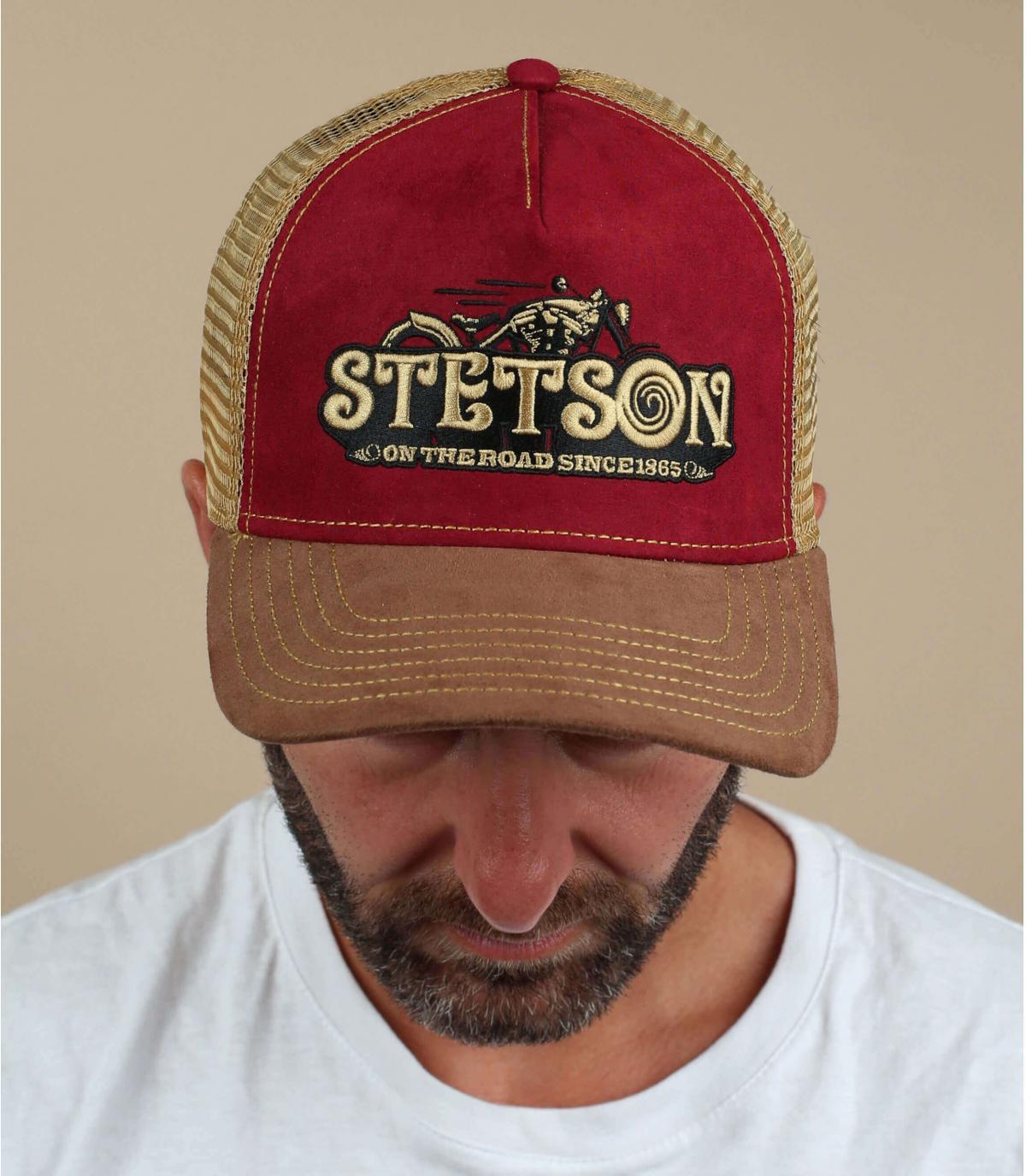 bordeaux motorfiets trucker Stetson