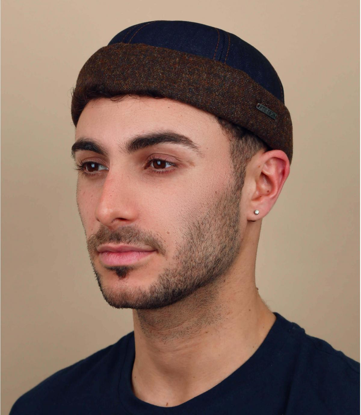 Denim docker hoed van Stetson