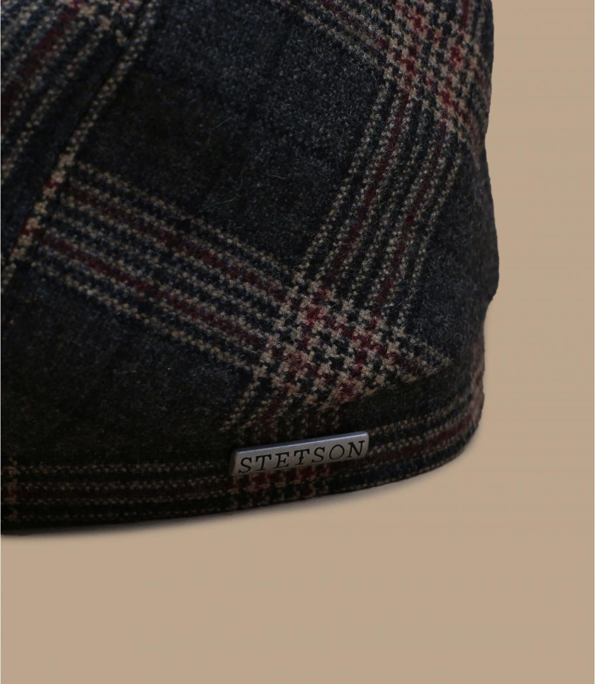 Details 6-Panel Cap Wool Check grey brown - afbeeling 2