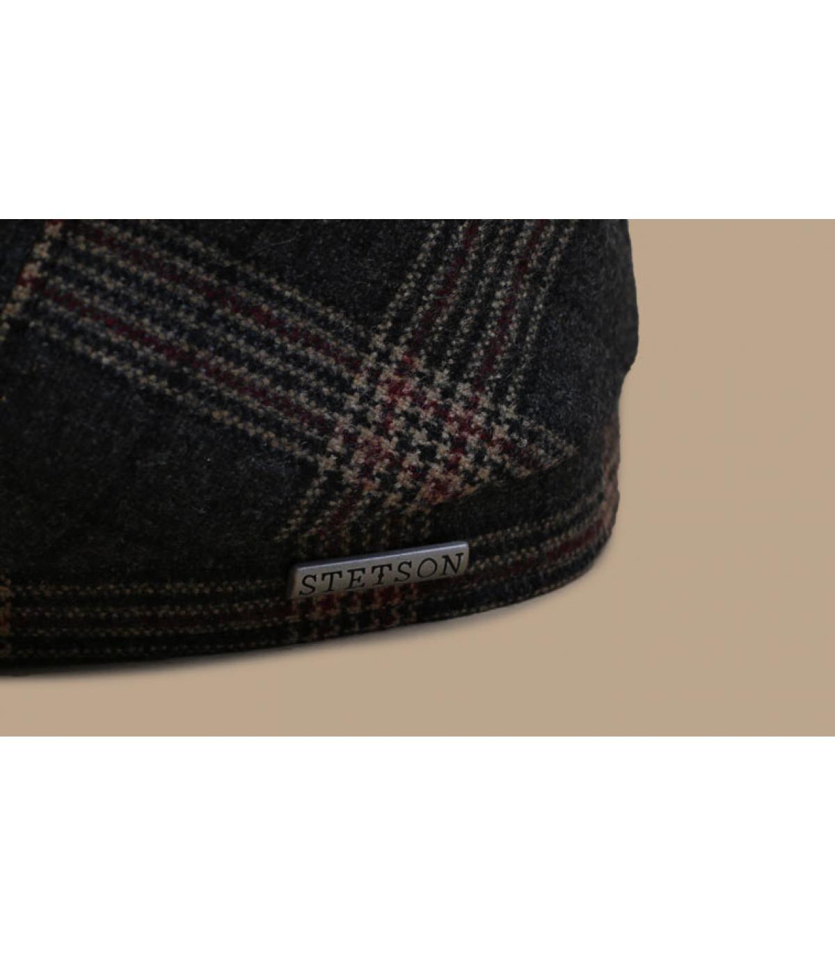 Details 6-Panel Cap Wool Check grey brown - afbeeling 3