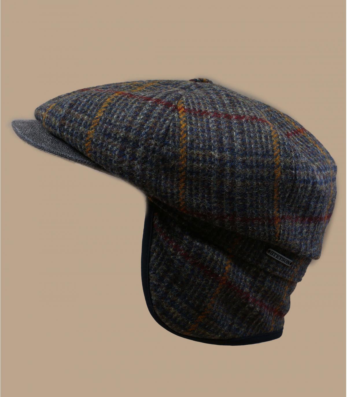 Details Hatteras EF Wool olive brown check - afbeeling 2