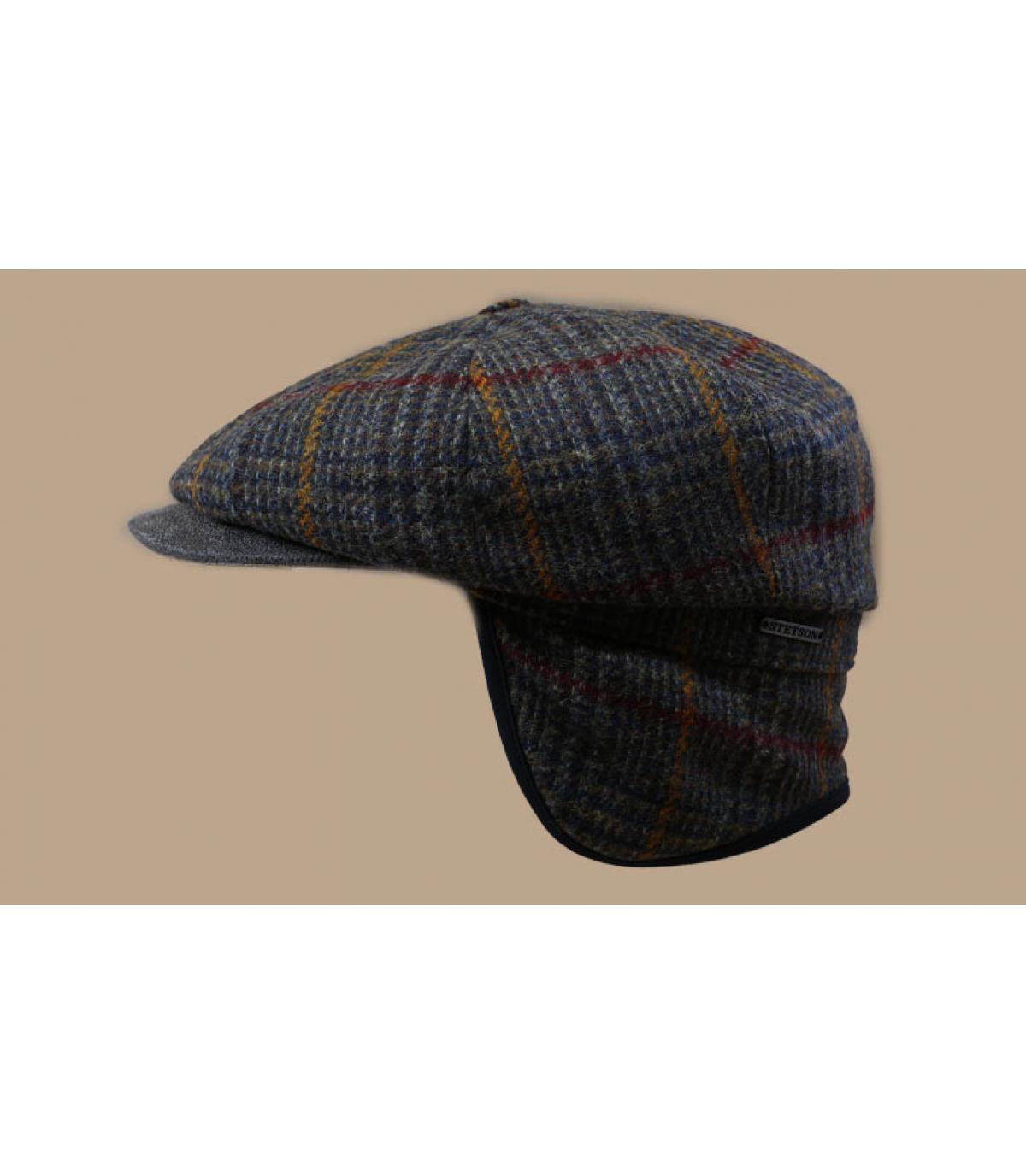 Details Hatteras EF Wool olive brown check - afbeeling 3