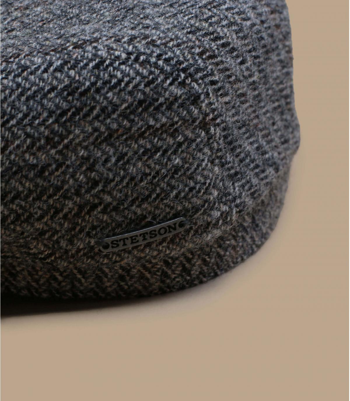 Details Driver Cap Virgin Wool Herringbone grey - afbeeling 2
