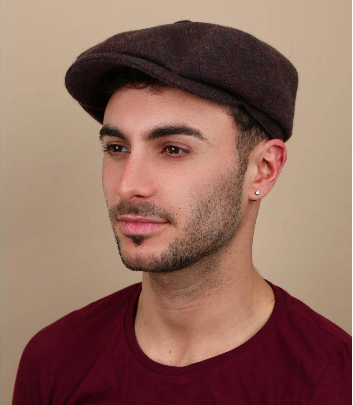 wol oranje bruine baret
