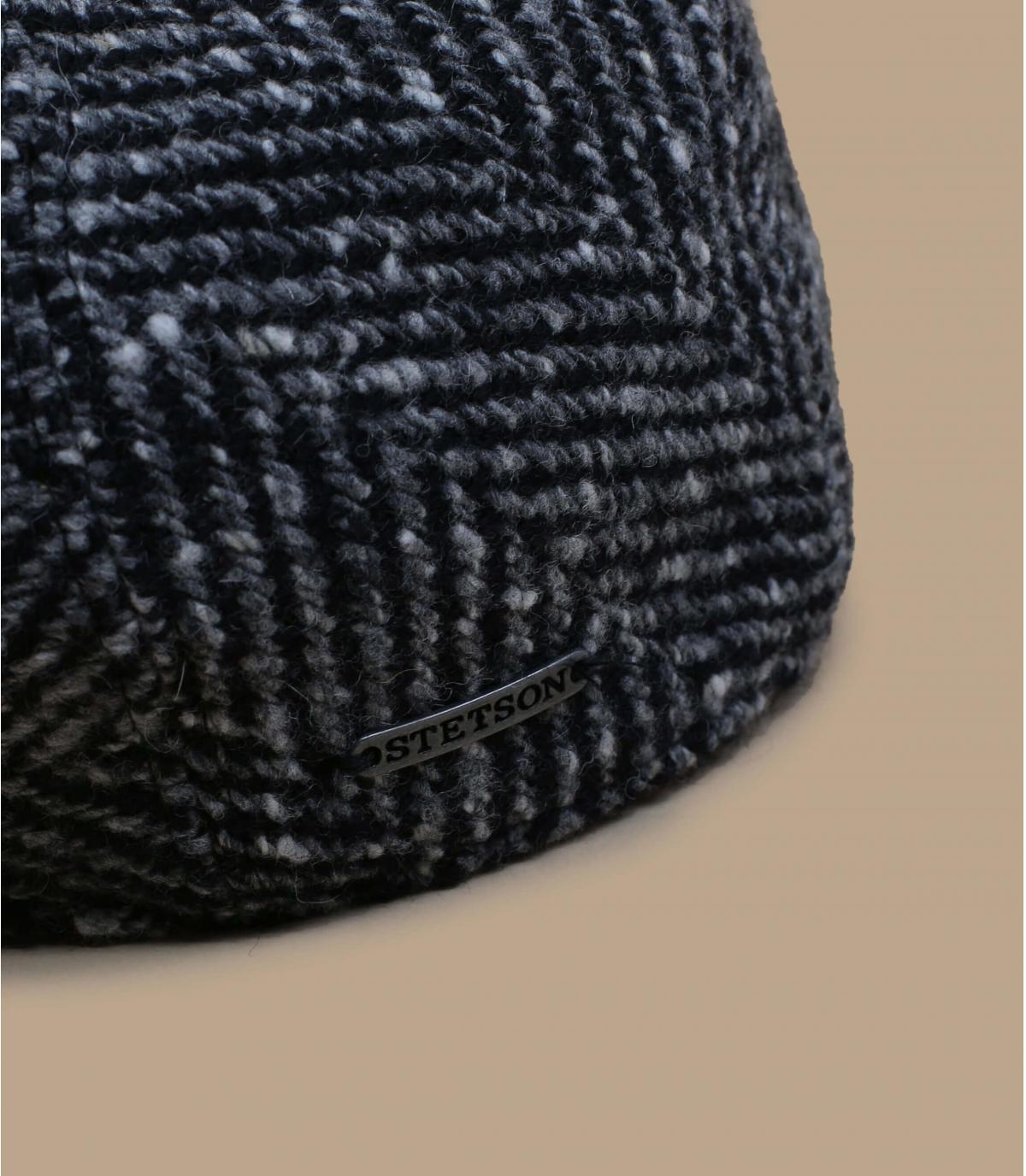 zwart witte wollen baret