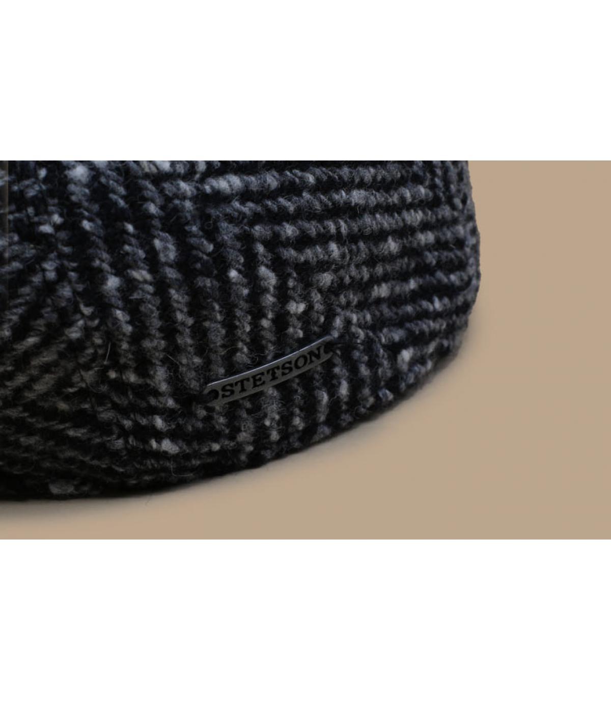 Details Ivy Cap Herringbone black white - afbeeling 3