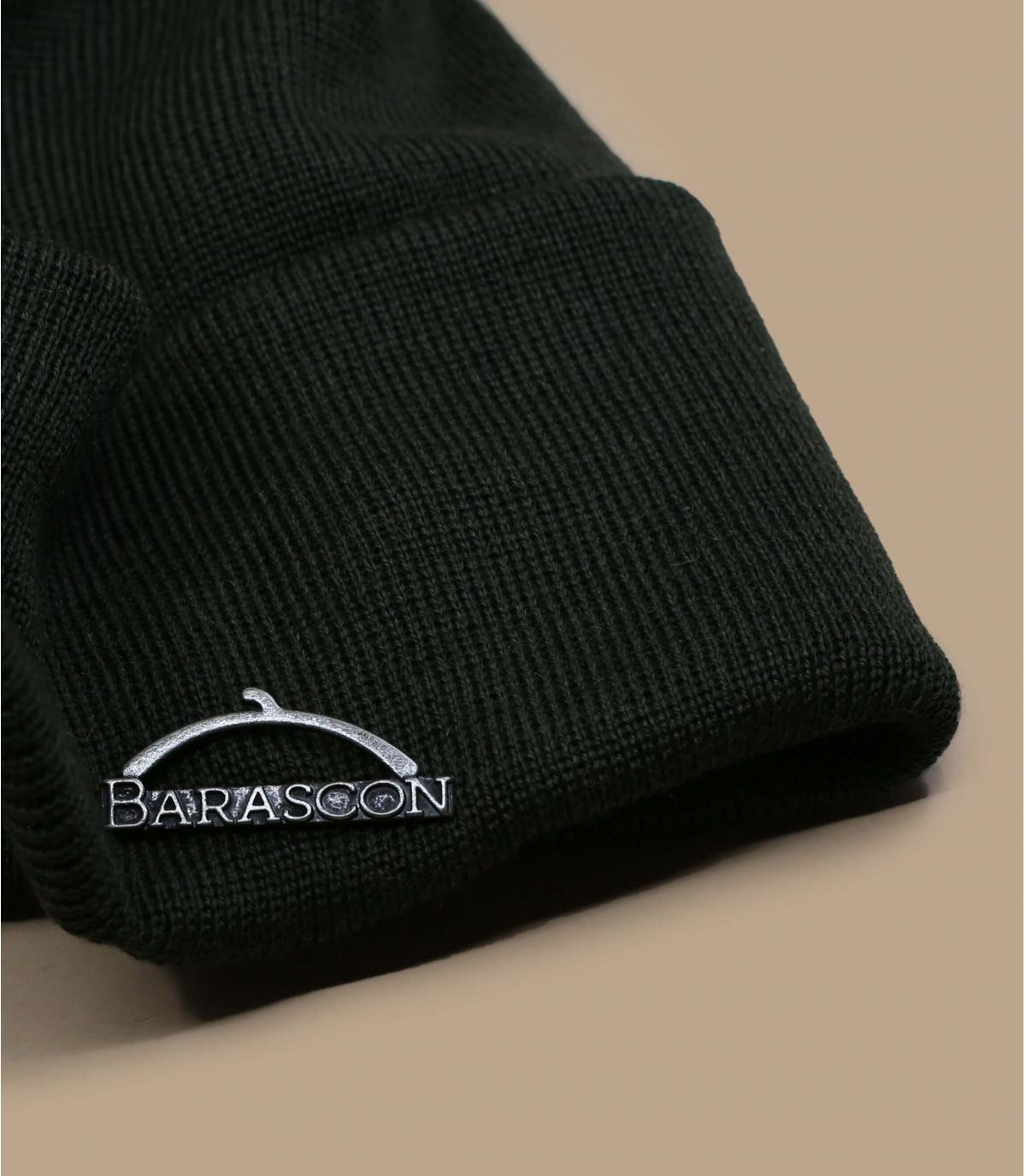 Details Barascon Beanie Wool Acryl green - afbeeling 2