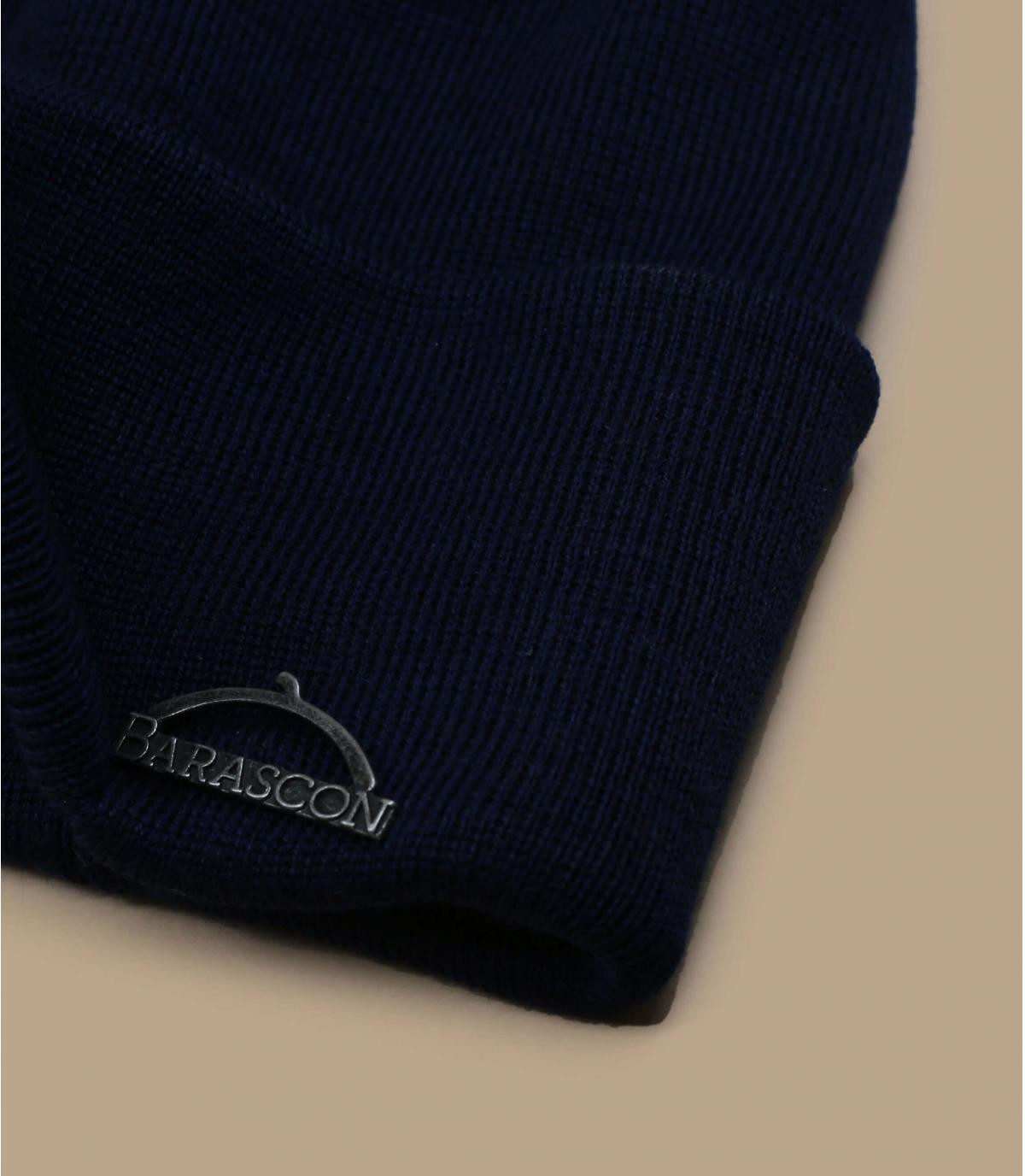 Details Barascon Beanie Wool Acryl navy - afbeeling 2