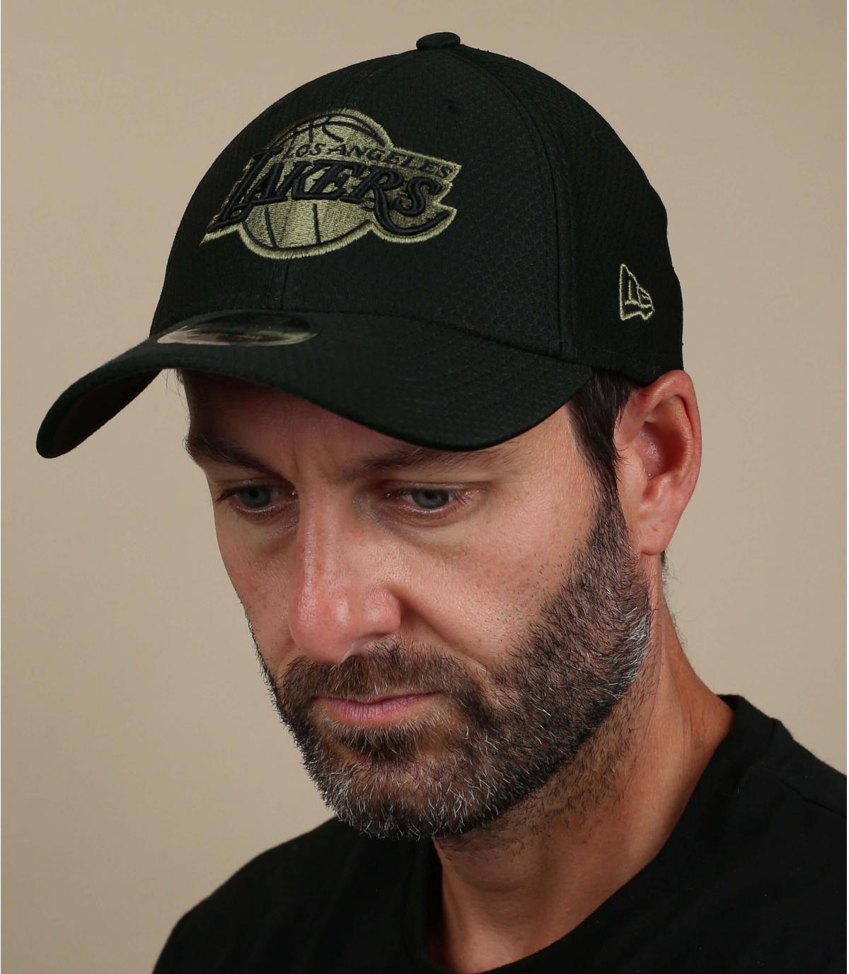 zwarte Lakers cap