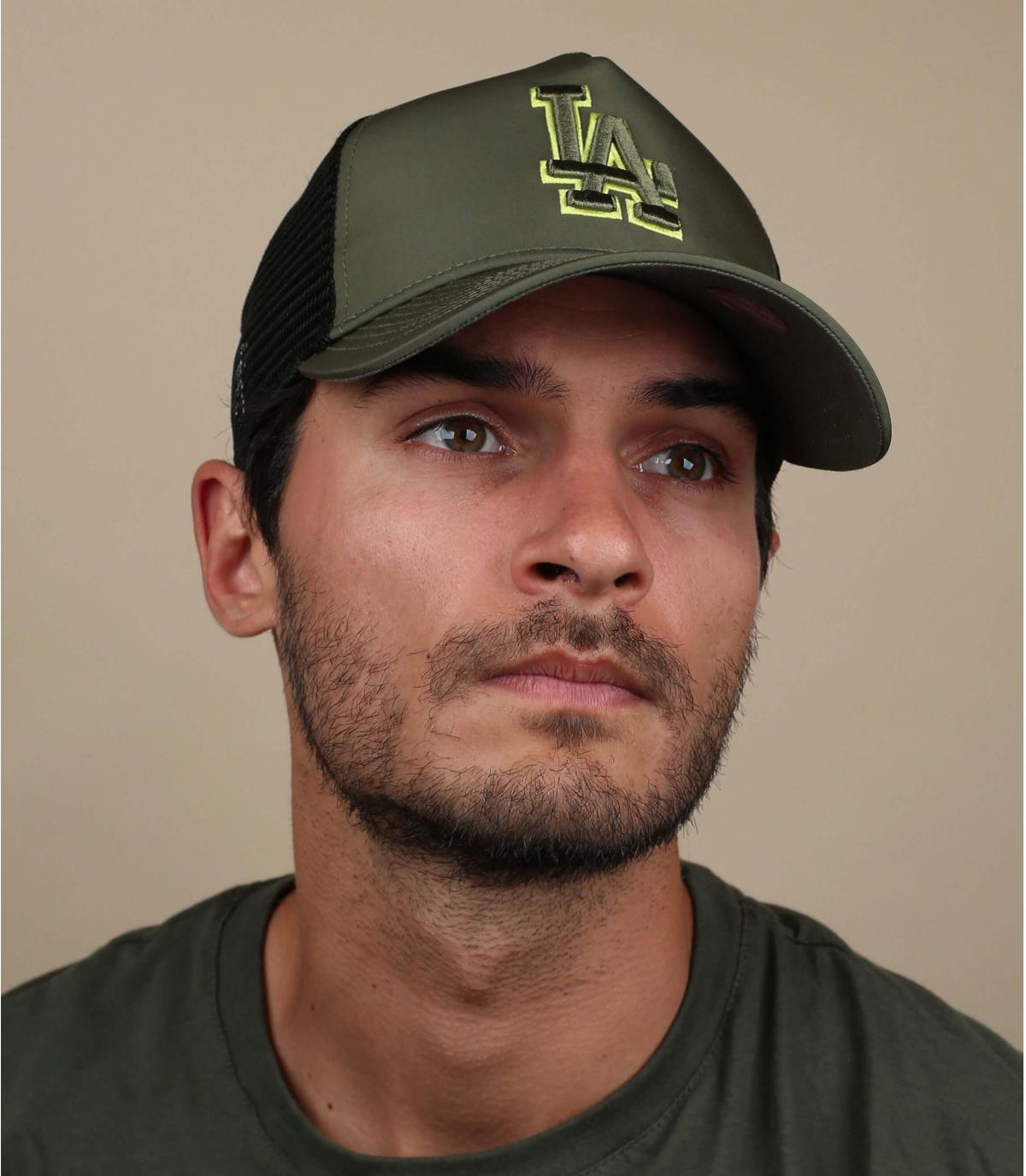 LA groene nylon trucker