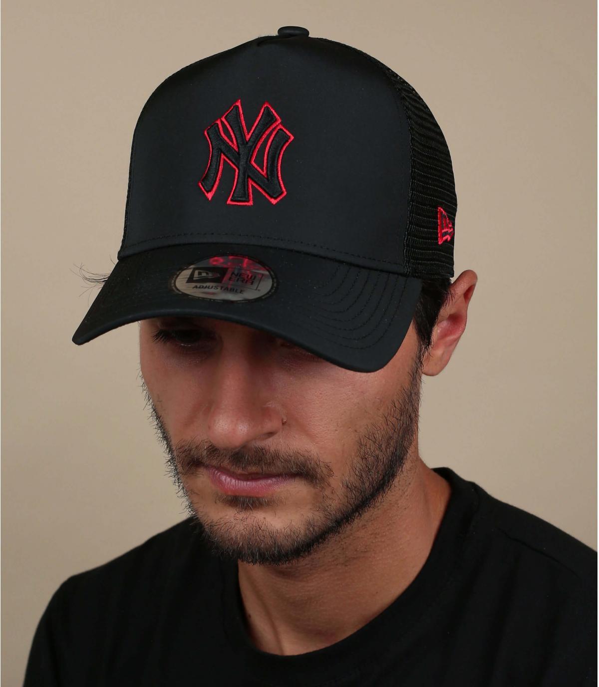 Trucker NY zwart nylon