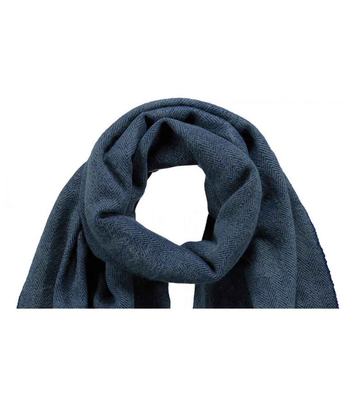 heren navy sjaal - soho sjaal navy van barts.
