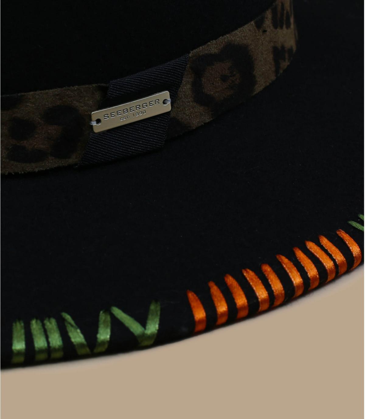 Details Felt Fedora with embroidery khaki - afbeeling 2