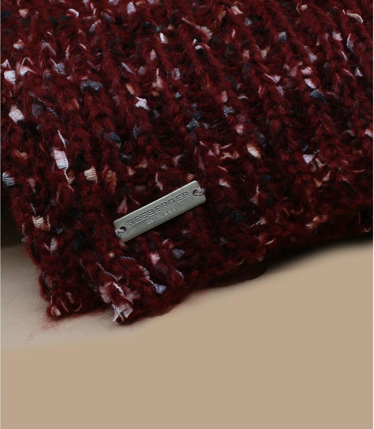 bordeaux gemêleerde sjaal
