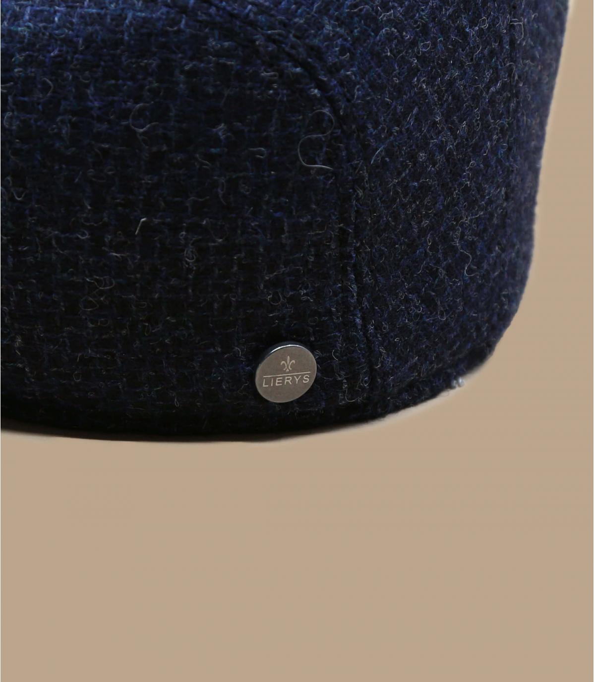 blauwe wollen baret