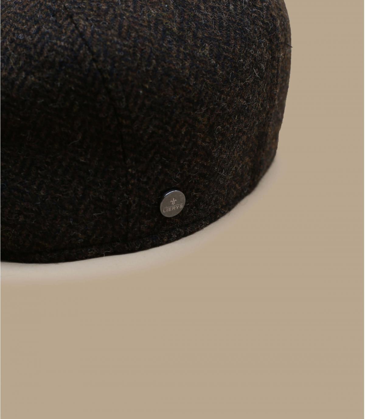 Details Britton Wool Herringbone brown - afbeeling 2