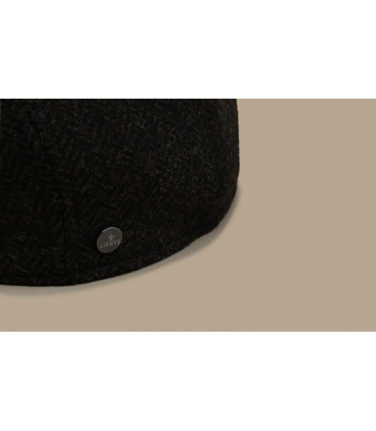 Details Britton Wool Herringbone brown - afbeeling 3