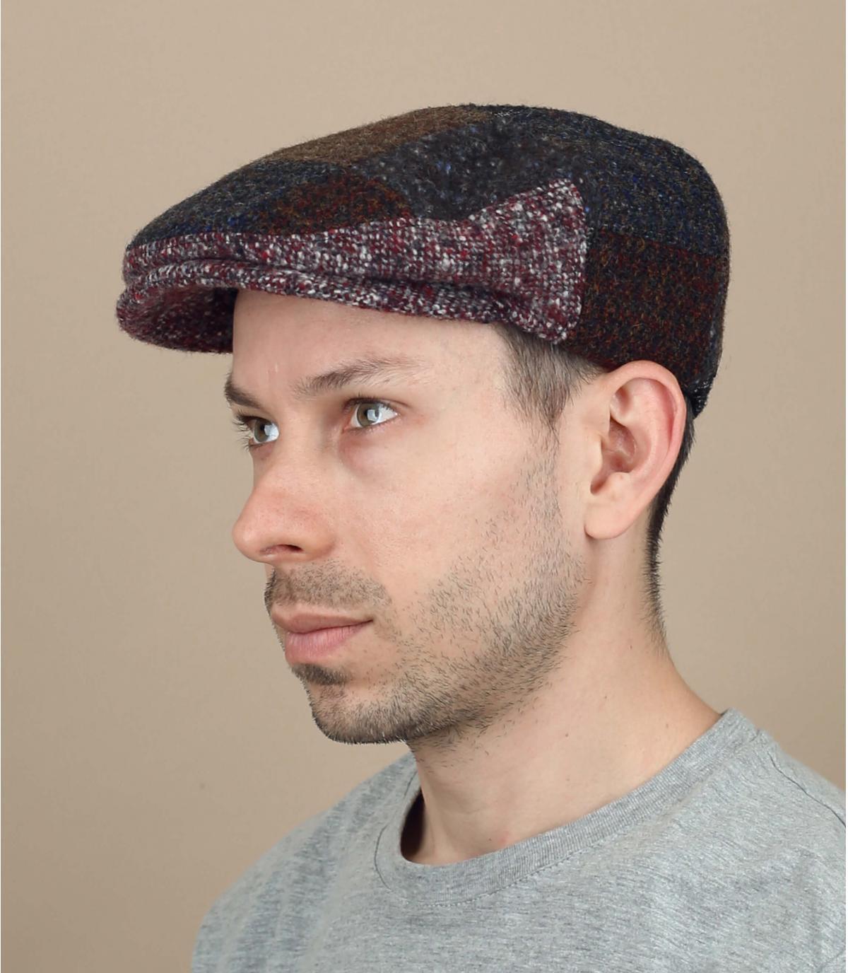 wollen lappendeken baret