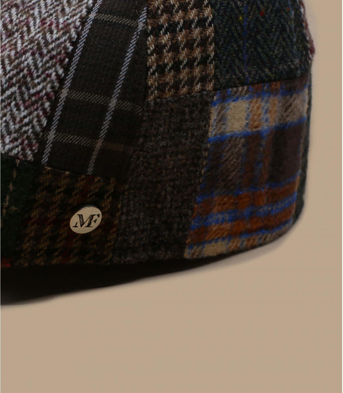 wolbruine patchwork baret