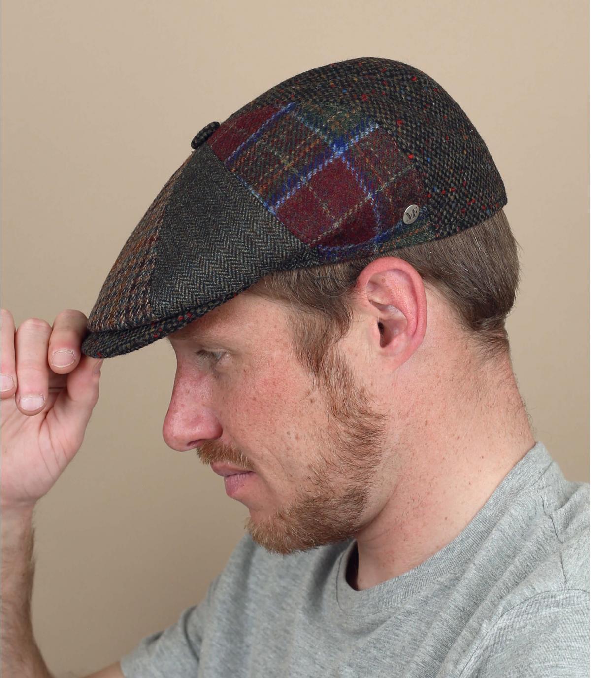 Wol patchwork krantenverkoper baret
