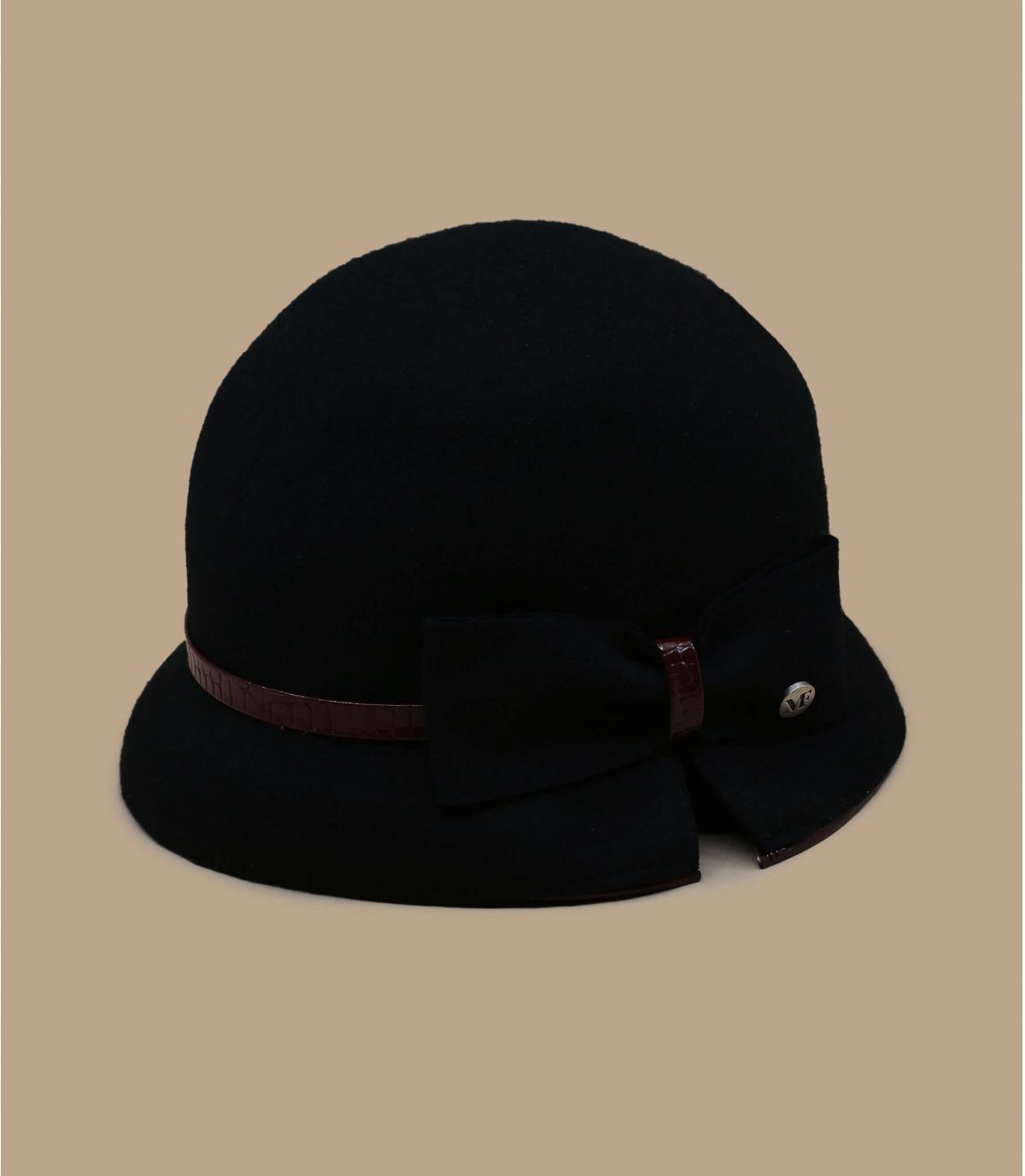zwarte bell hat bow