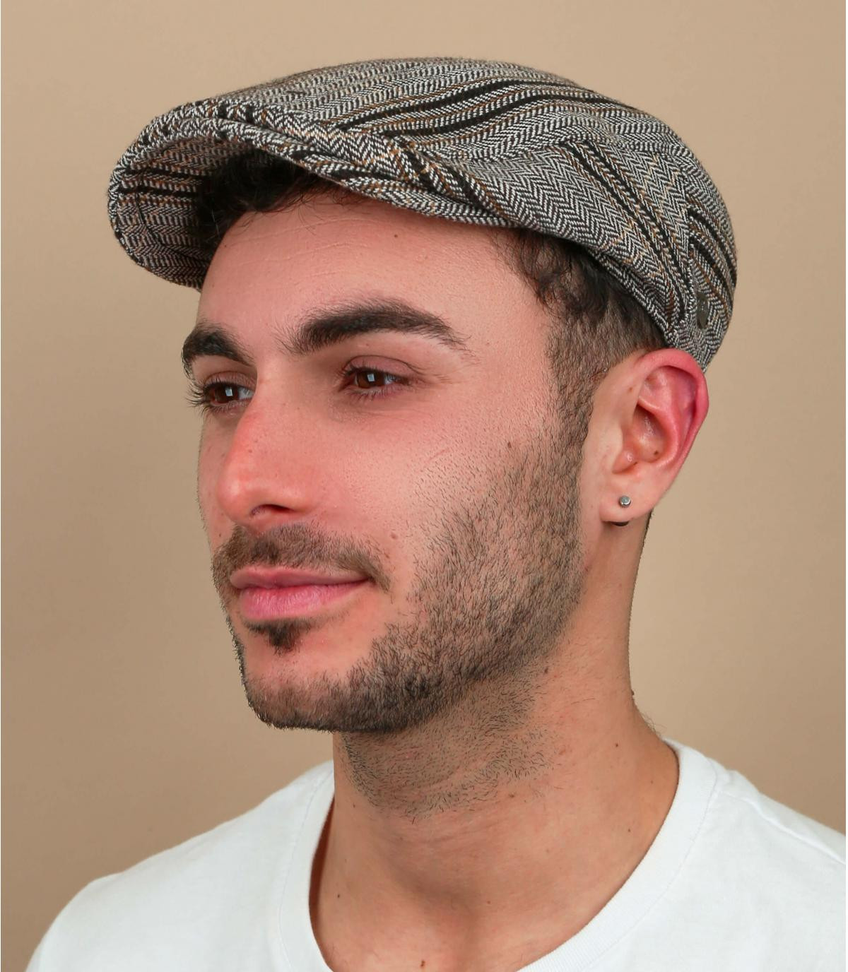 Bailey grijze geruite baret