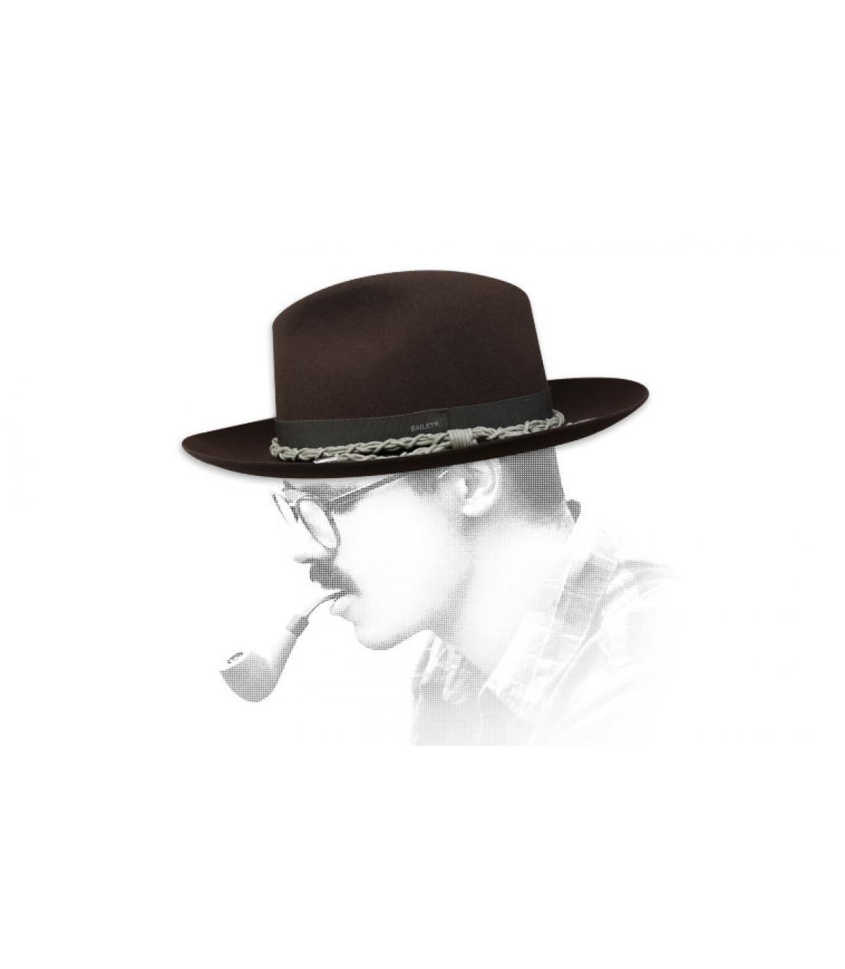 Bailey bruine vilten hoed