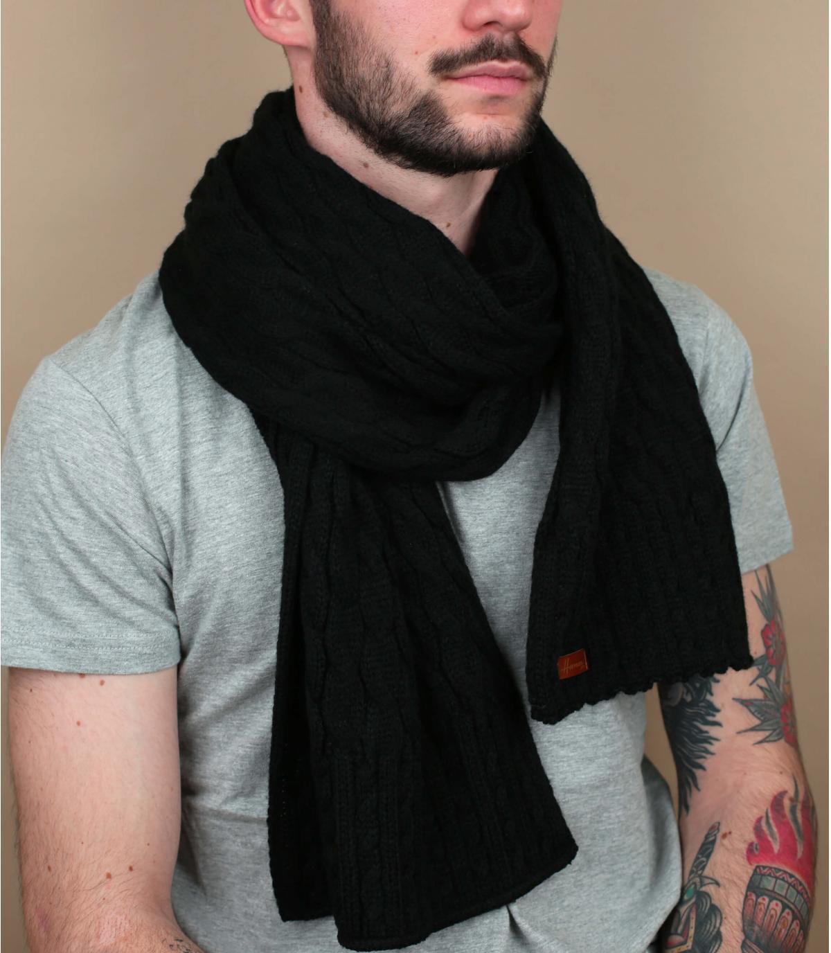 zwarte twist sjaal