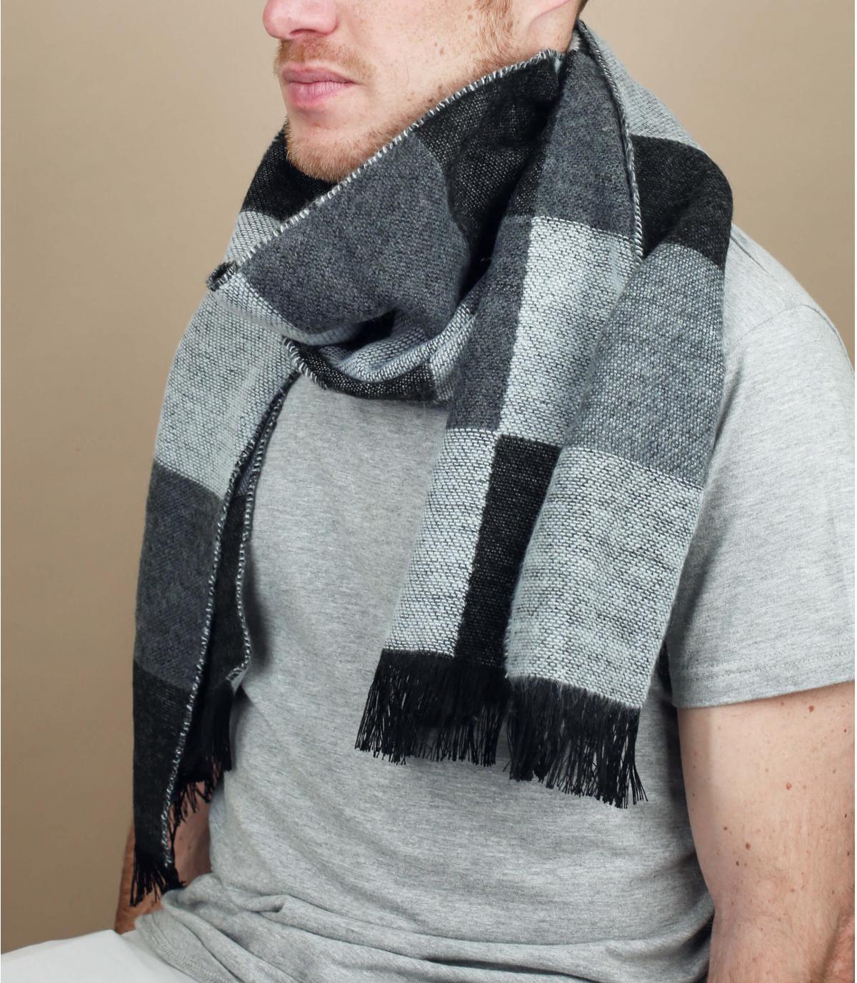 geruite sjaal zwart grijs