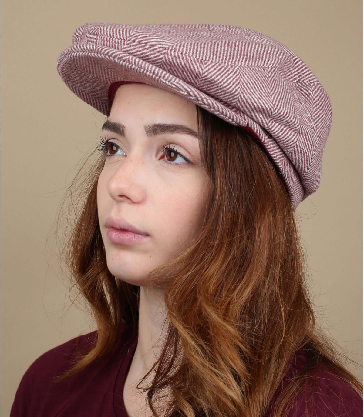 wollen roze baret