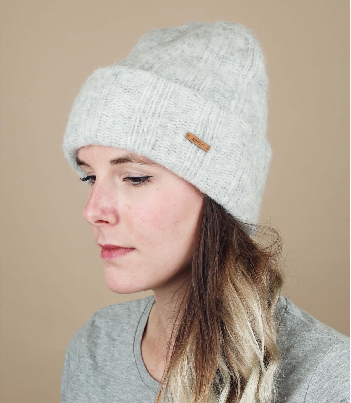 grijze alpaca hoed