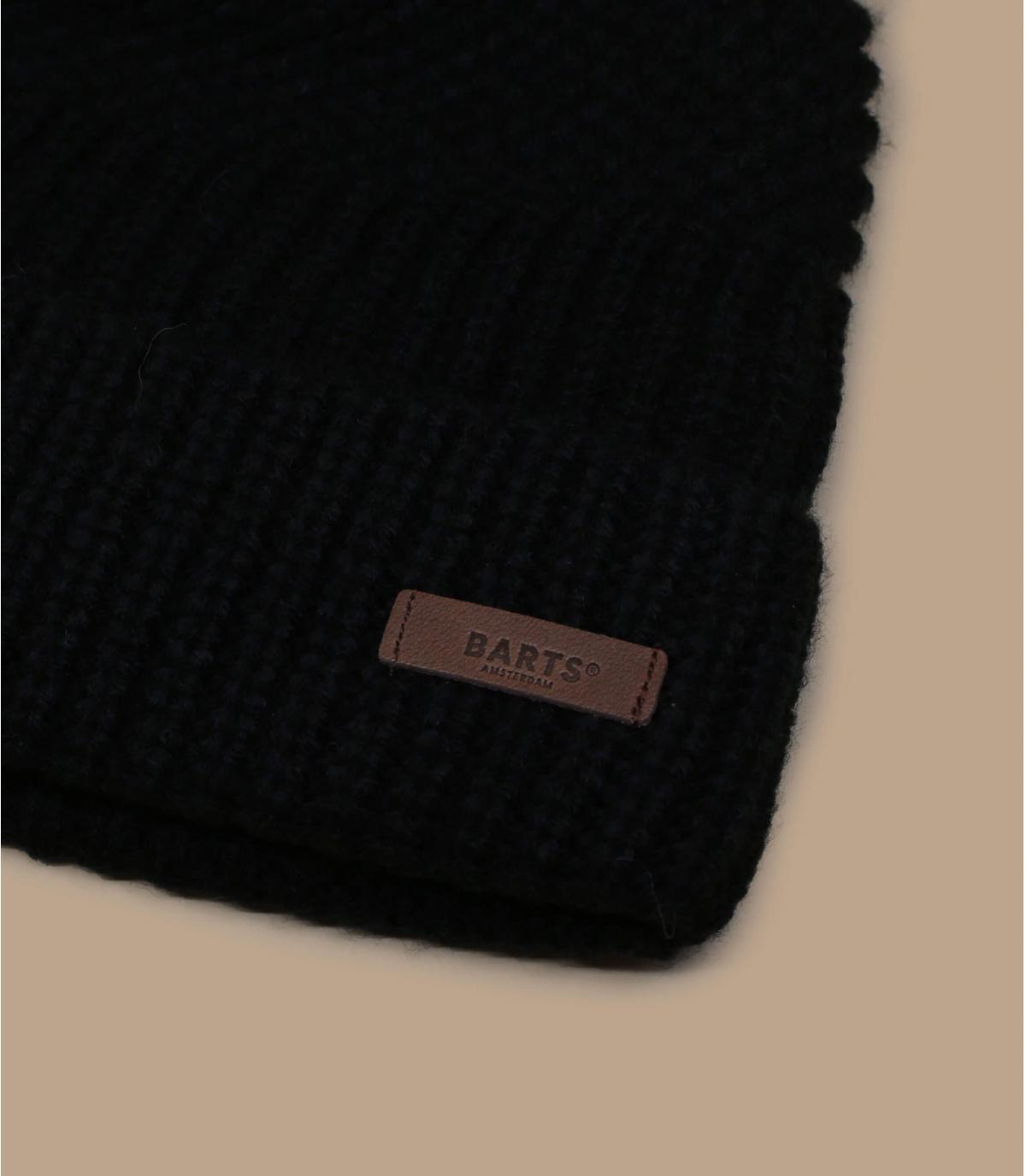 zwarte Barts manchet beanie