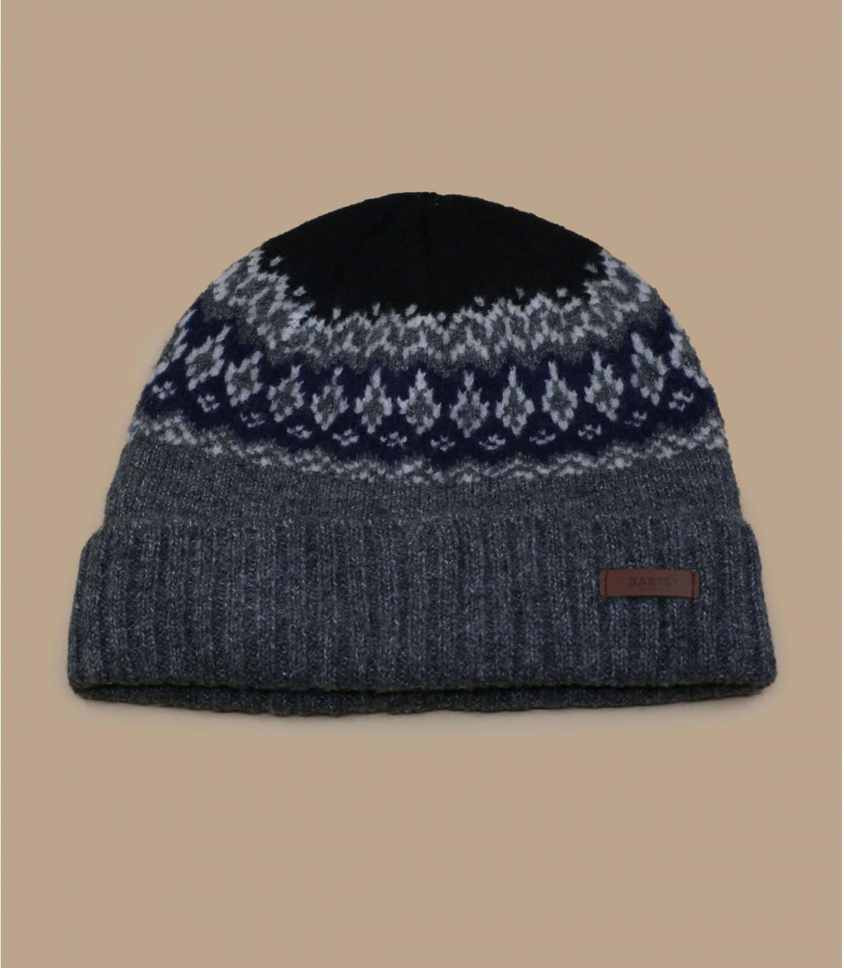 grijs gevoerde hoed
