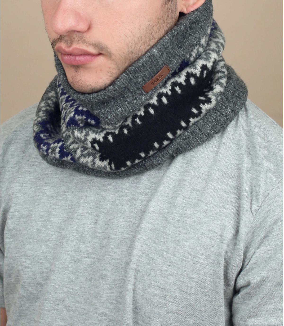 patroon grijze sjaal