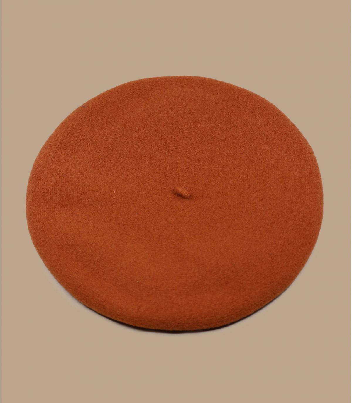 Laulhère baret oranje merino