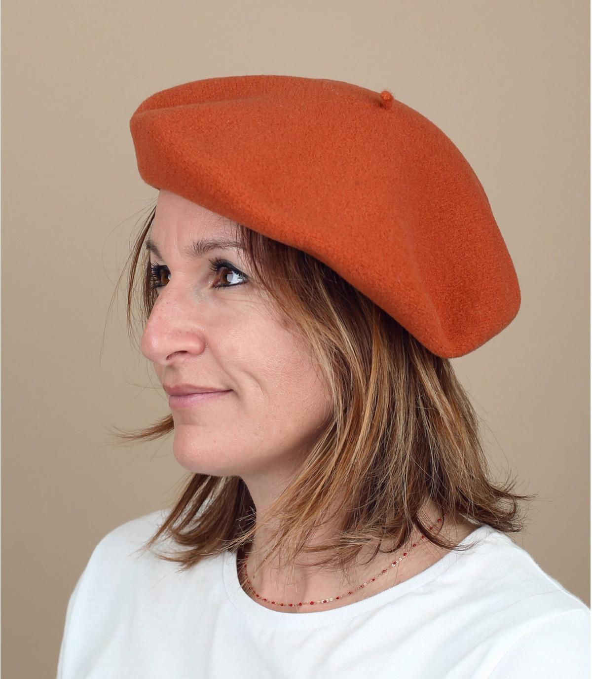 Laulhère oranje baret