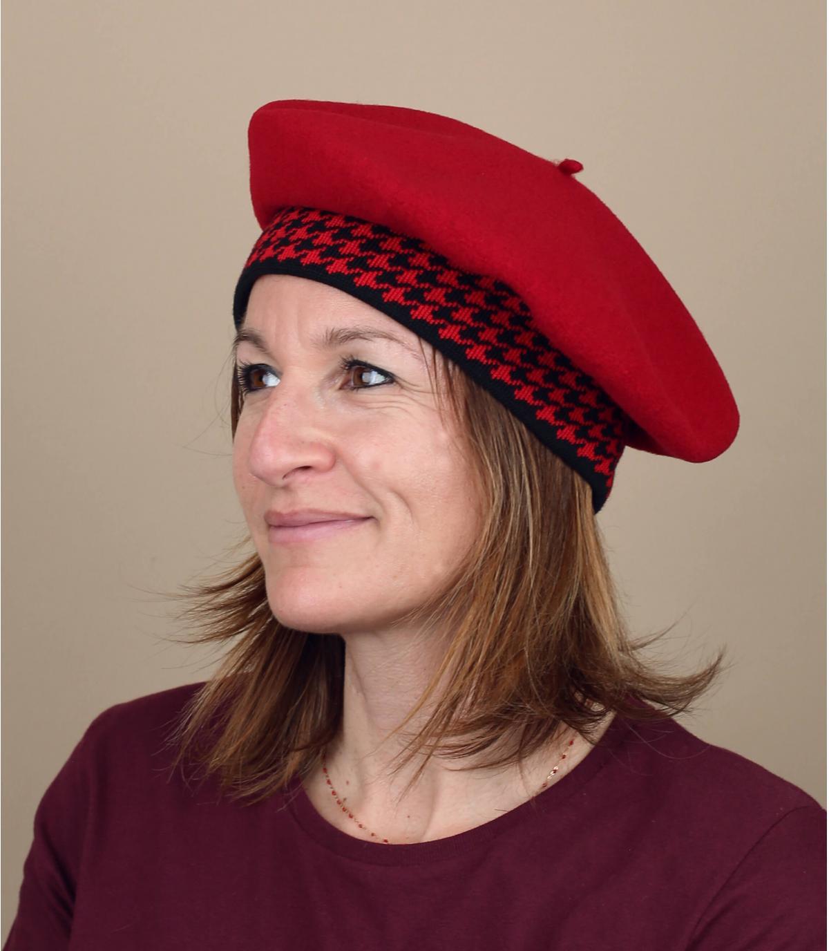 rode houndstooth baret
