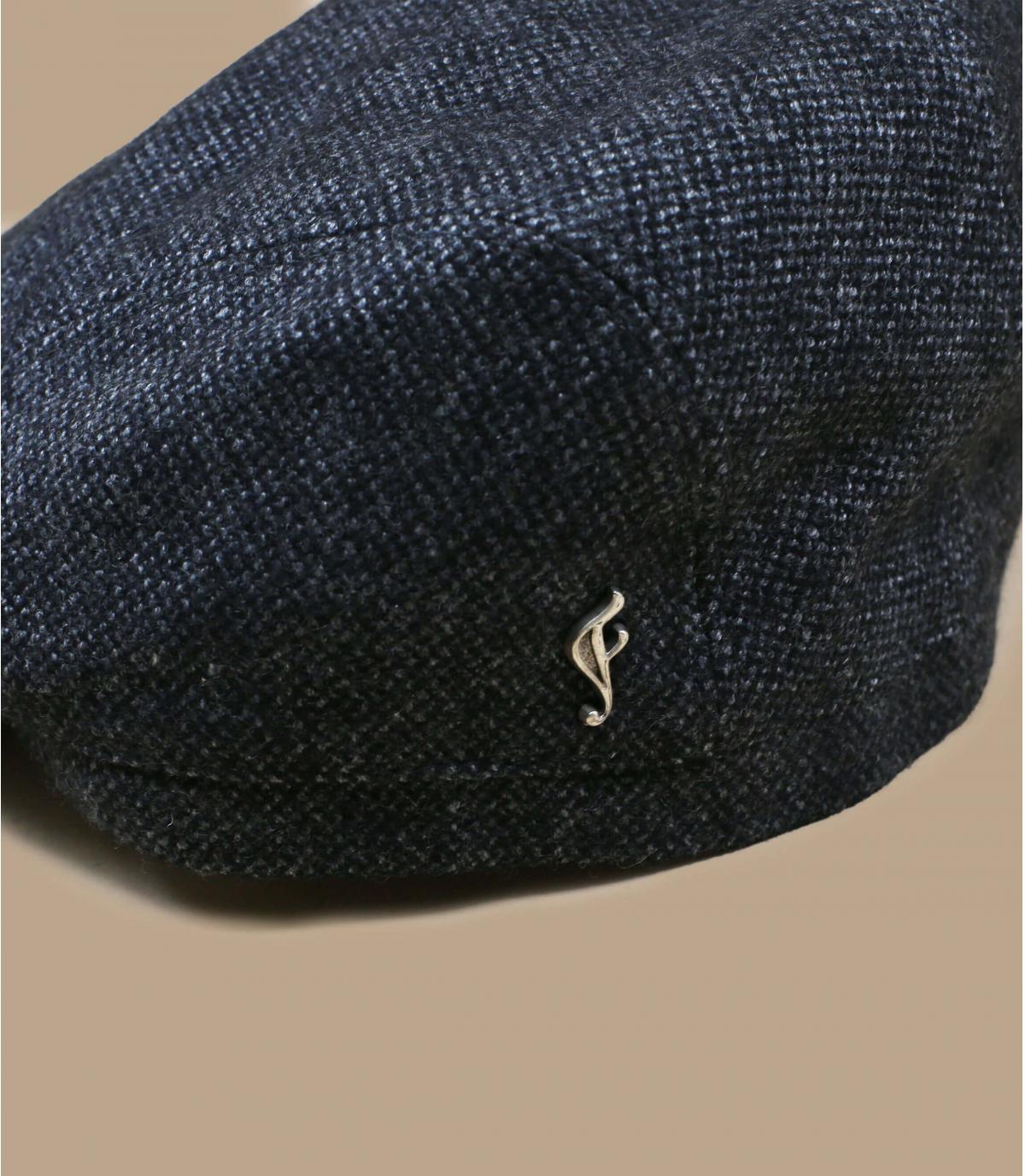 grijze biologische wollen baret