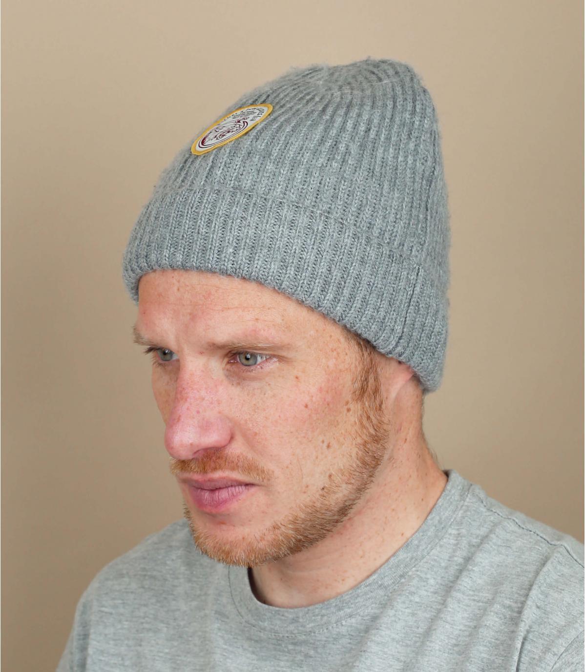 Kolen grijze revers hoed