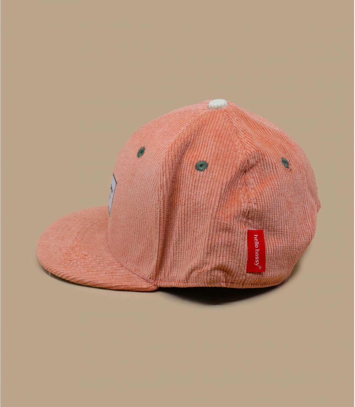 roze fluwelen kindermuts