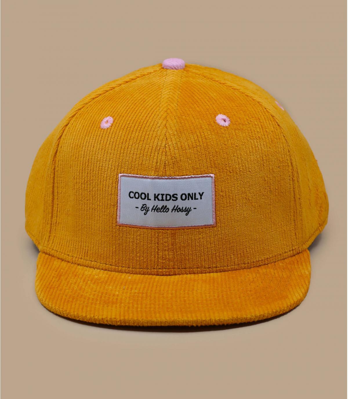 geel fluwelen pet voor kinderen