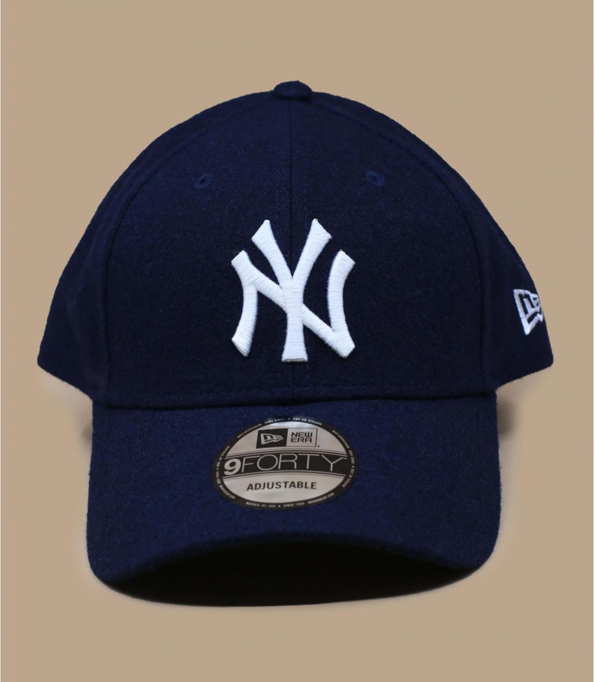 wol blauwe NY cap